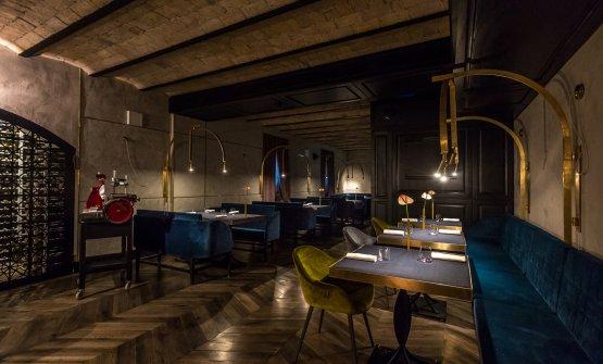 La sala del ristorante All'Oro