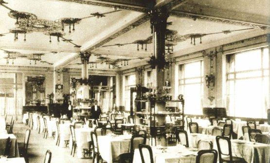 La sala ristorante nel 1908