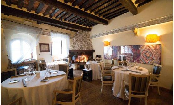 La sala del ristorante Da Caino