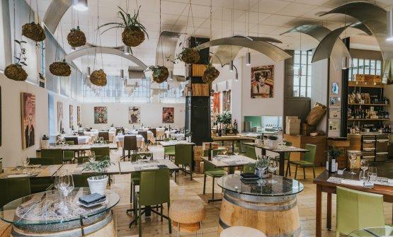 Un particolare del Carroponte di Bergamo: enoteca, bistrò, ristorante