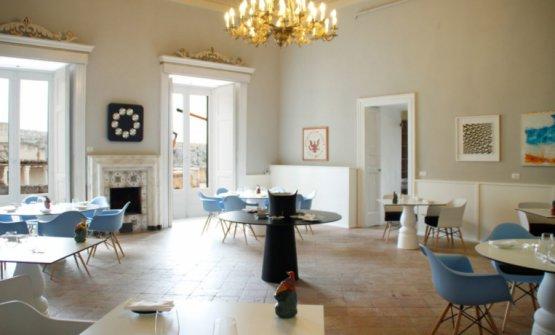 La sala di Dimora Ulmo, a Matera