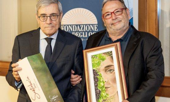 Fausto Maculan (a destra) e il presidente della Fondazione della Banca degli Occhi, Giuseppe Di Falco