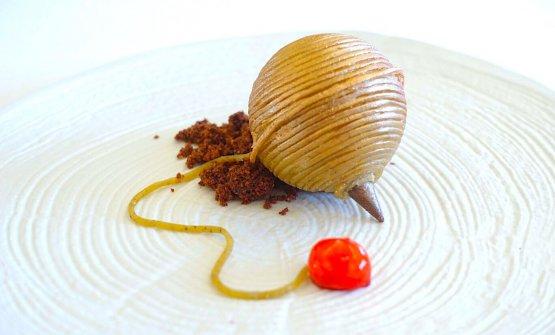 Lo Spaghetto con la Strummula, dessert creativo (e molto buono) presentato e vincenteal concorsoGara di Gusto daSantino Corso, nuovo chef del Charleston di Palermo