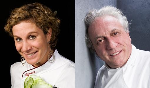 Ana Ros e Davide Scabin, rispettivamente chef di H