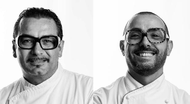 PRIMI CHEF. Italo Bassi e Riccardo Monco. In pasticceria c'è Luca Lacalamita