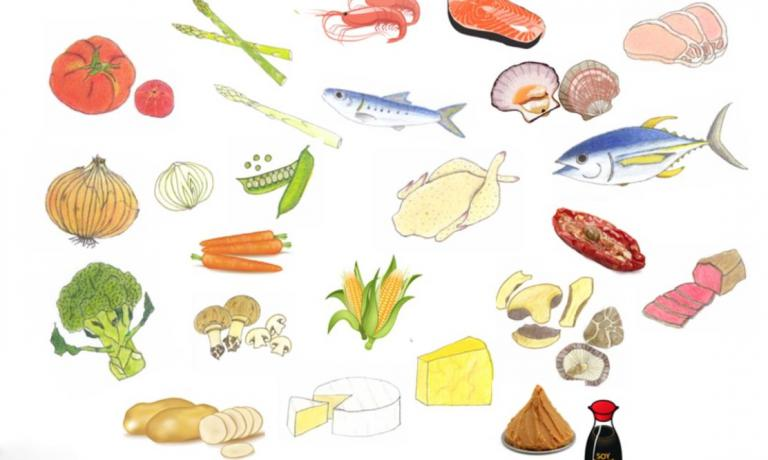 A review of the ingredients that are richest in umami