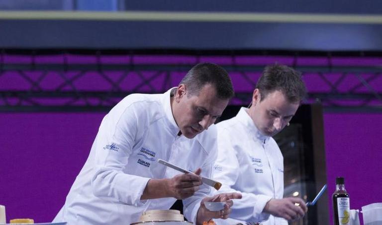 Oriol Castro ed Eduard Xatruch ieri sul palco