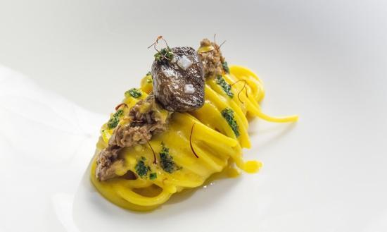 Lo speciale Spaghetto Milano di Andrea Ribaldone (foto Giorgio Annone)