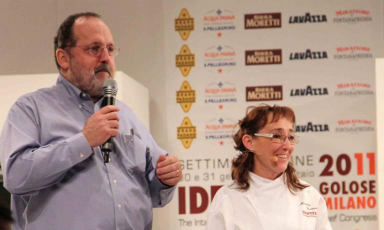 Marta Grassi con Paolo Marchi a Identità Milano 2011