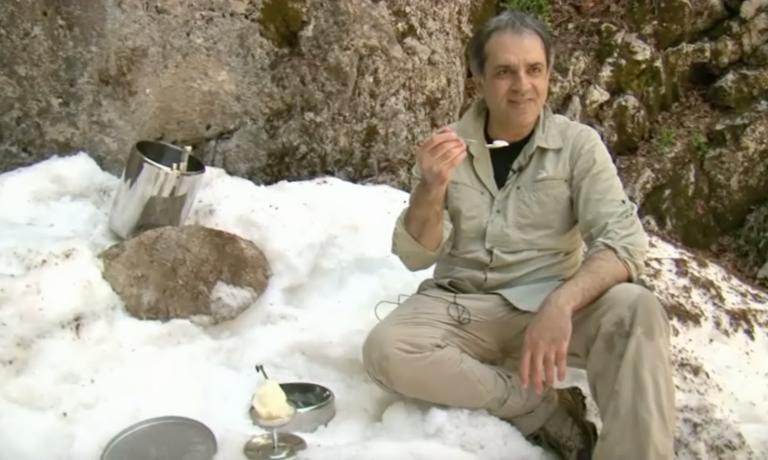 Il gelatiere siciliano Antonio Cappadonia, direttore dello Sherbeth Festival