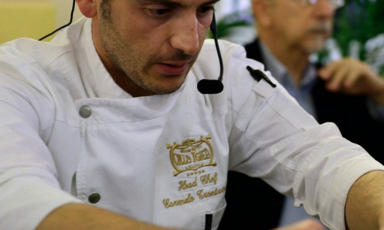 Carmelo Trentacosti, chef del Villa Igiea di Palermo