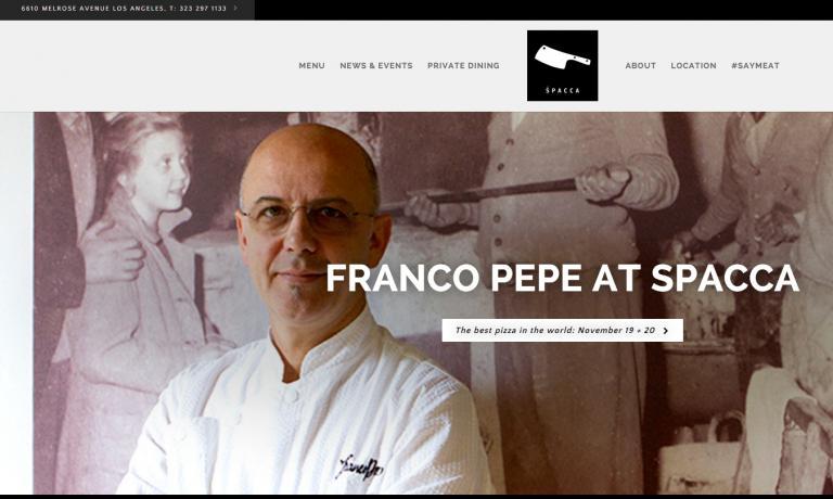 Il sito di Spacca, insegna che appartiene a Nancy Silverton, Mario Batali e Joe Bastianich, spara una grande foto dell'evento che ha visto protagonista per nove giorni Franco Pepe. Esito: sold out e pioggia di elogi