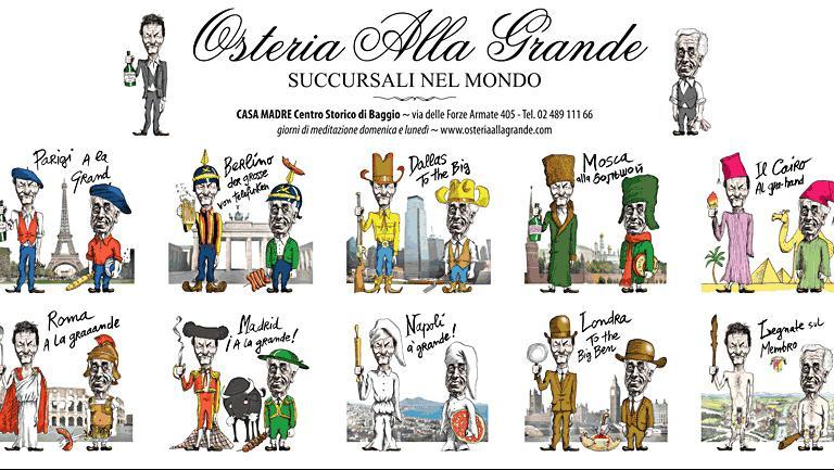 Immagine tratta dal sito dell'Osteria alla Grande, la migliore insegna Pop secondoCavallito & Lamacchia e Iaccarino
