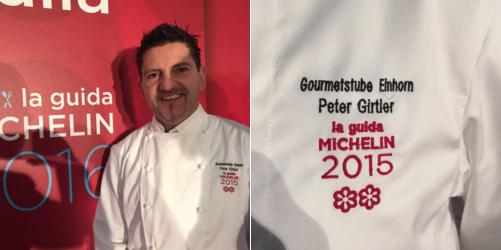 Peter Girtler, chef at restaurant Gourmetstube Einhorn inside hotel Stafler in Vipiteno in Alto Adige, 2 brand new Michelin stars