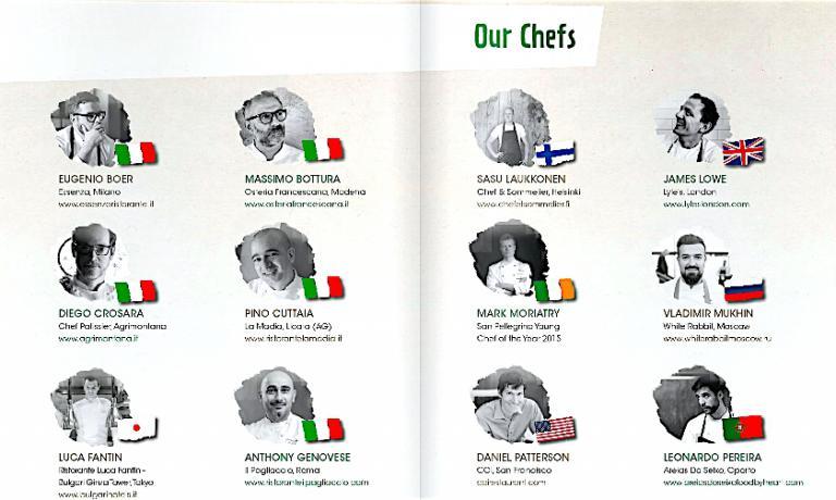 Alcuni degli chef protagonisti di Care's