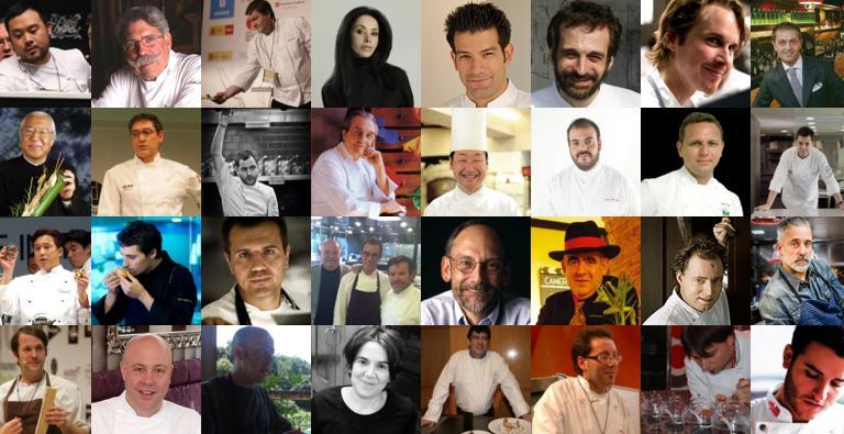 Alcuni degli chef relatori al congresso