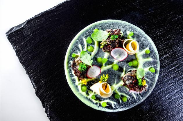 Lumache con radice di prezzemolo, broccolo selvati