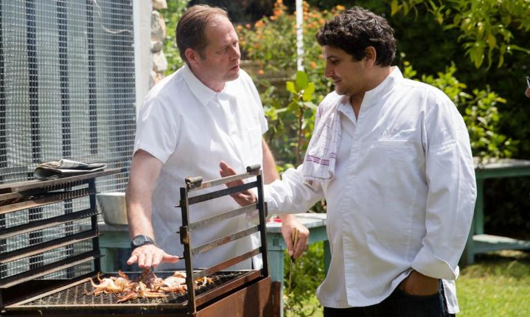 David Kinch con Mauro Colagreco