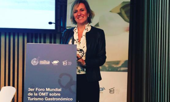 Roberta Garibaldi, relatrice al terzo Unwto, World Forum on Gastronomy Tourism, il 10 maggio scorso a San Sebastian, nei Paesi Baschi