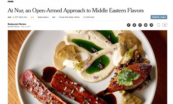 L'encomio di Pete Wells del New York Times