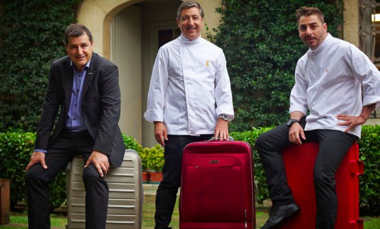 The Roca brothers always with a suitcase (photo www.bbva.com)