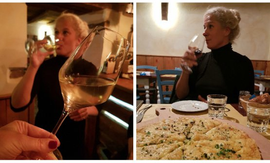 Dining with Ana Roš, what with wines and a dish of frico