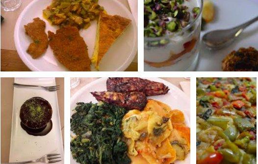 Alcune delle proposte deLa Cucina dei Colori di