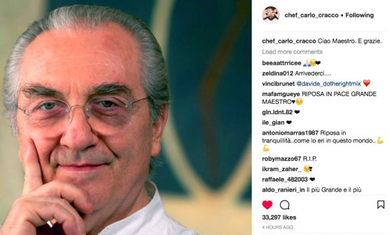 Carlo Cracco sul suo profilo instagram