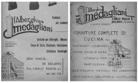 Antichi cataloghi dell'Alberghiera Medagliani