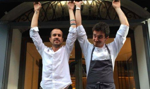Tommaso Spagnolo(a destra) e Guido Gherardi, le due colonne di cucina e sala del ristorante N.O.I.
