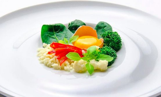 Terrina coreana di Alfonso Crisci, chef diTaverna VesuvianaaSan Gennaro Vesuviano (Napoli), foto thisismee