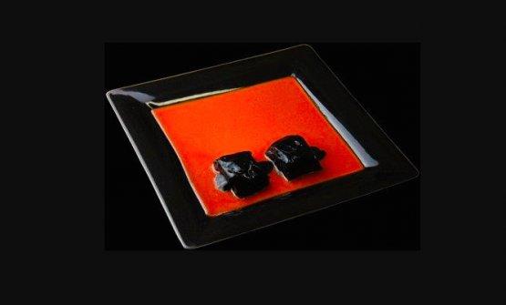 Il Rosso e il Nero, ovvero Coda di rospo al nero di seppia, piatto con cui Gualtiero Marchesi omaggiò Lucio Fontana dopo la rinuncia alle stelle Michelin