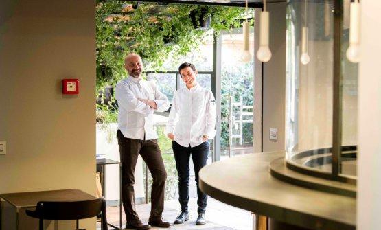Romito con la sua chef Gaia Giordano, che sarà protagonista aIdentità di Champagne - Atelier des Grandes Dames (in collaborazione con Veuve Clicquot) a Identità Milano, lunedì 5 marzo(foto di Francesco Fioramonti)