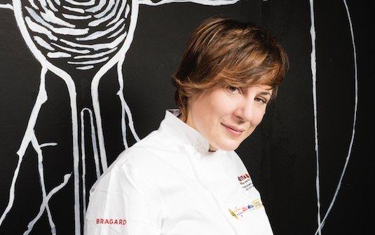Antonia Klugmann, triestina, classe 1979, è al timone del ristorante L'Argine a Vencò, Dolegna del Collio (Gorizia). Foto Brambilla/Serrani
