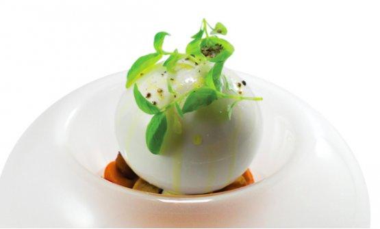 La Caprese Dolce...Salato di Andrea Aprea, chef del ristorante Vun del Park Hyatt di Milano, 2 stelle Michelin, un piatto concepito dal cuoco napoletano nel 2011(foto Sublime Blog, ricette in #cibografica)