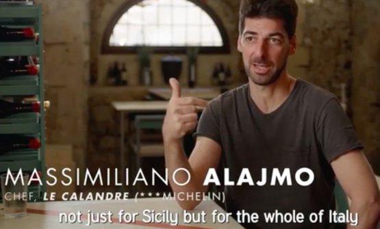 """Alajmo nell'episodiodi Chef's Table dedicato adAssenza: """"Corrado"""", spiega il padovano, """"non ha fatto tanto solo per la Sicilia, ma per l'Italia intera"""""""