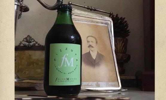 La birra di mandorle Pizzuta di Felice Modica, l'ultima etichetta disegnata da Bob Noto