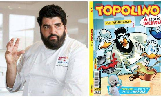 Antonino Cannavacciuolo nei panni dello chef Paper