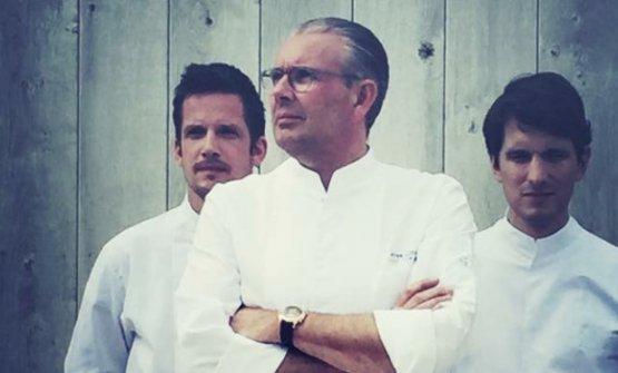 Peter Goossens(tristellato all'Hof Van Cleve) e, alla sua destra,Michaël Vrijmoed, in una foto di qualche anno fa