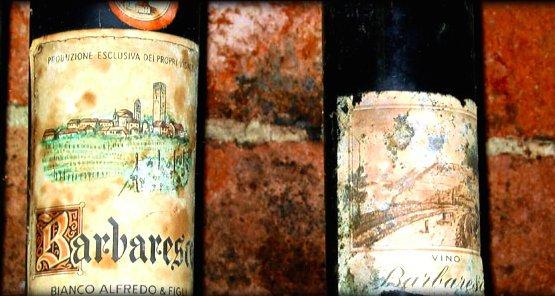 Antiche etichette di Barbaresco in archivio nella