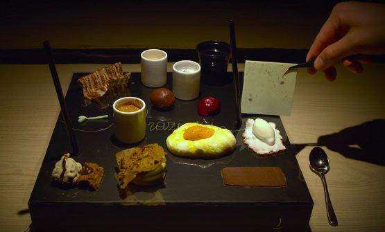 Il dessert così come viene servito alle Calandre