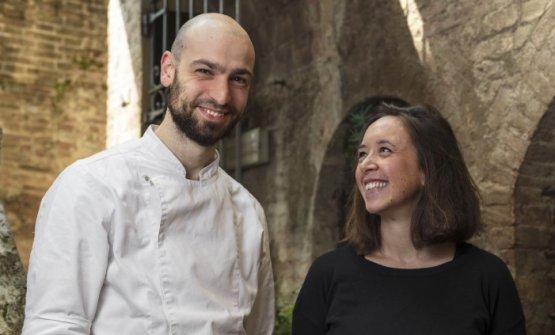 Adriano Antonelli e Ilaria Iannone , cuoco e responsabiledel ristoranteIl Campaccio, aperto nel 2015 in centro a Siena