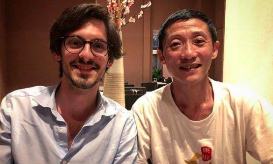 BingChen (a destra)con l'autore dell'articolo Giovanni Farinella
