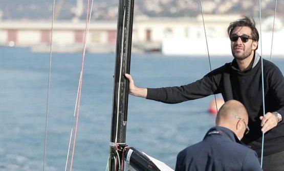 Luigi Taglienti durante la regata