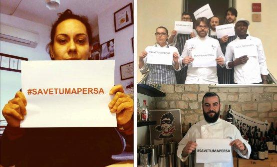 Martina Caruso (Signum), lo staff di Palazzo Branciforte con lo chef Gaetano Billeci e Lorenzo Ruta (Taverna Migliore)