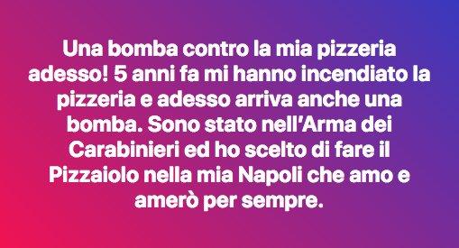Il messaggio su Facebook di Gino Sorbillo