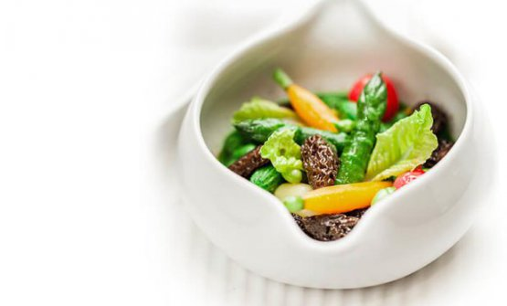 Cookpot, the dish that represents the new vegetal direction taken  by Ducasse (photo ducasse-paris.com)