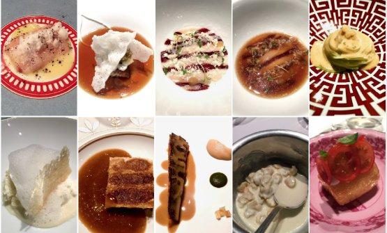 Alcuni dei piatti del nostro percorso, tra proposte classiche e new entries