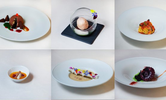 Una carrellata di piatti del ristorante Riviera di