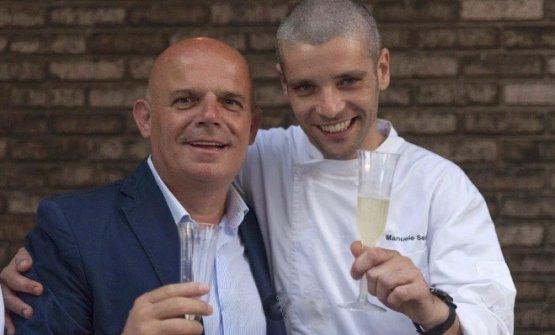 Senis con Gianfranco Massa, direttore di Accademia Casa Puddu